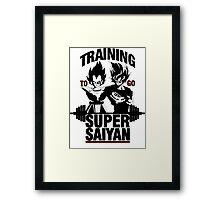 Training to go Super Saiyan v2 Framed Print