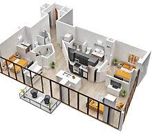 2D Floor Plan Australia by 3dwalkthrough