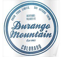 Durango Mountain Ski Resort Colorado Poster