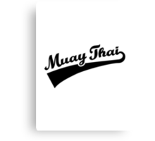 Muay Thai Canvas Print