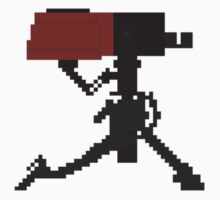 Team Fortress 2 Red Sentry Gun Pixel Art Sticker by iWithered