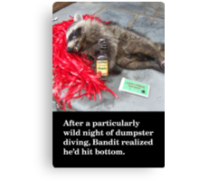 Birthday Card: Roadkill Canvas Print