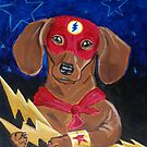 Dachshund Super Hero - The Dash by dvampyrelestat