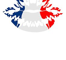 France flag football fan kiss by Style-O-Mat