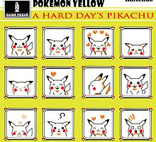 Pokemon Yellow: A Hard Day's Pikachu B&W by CPSUAB