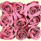 Pink Rose Bouquet Digital Art Design by David Alexander Elder