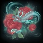 Ghost eel and roses by fioski
