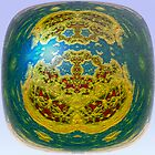 Gold and Rubies on Blue Marble by barrowda