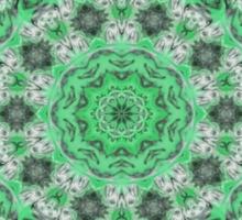 Kaleidoscope of mint green icicles Sticker