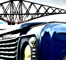 Landrover Defender in front of Forth Rail Bridge by ©The Creative  Minds