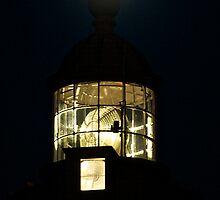 Le phare au clair de lune by Jean-Luc Rollier