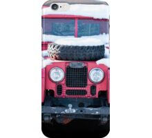 Red Landrover iPhone Case/Skin