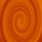 Orange Twirl Abstract #1 by Andy Turp