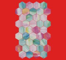 Pretty Pastel Hexagon Pattern in Oil Paint Kids Clothes
