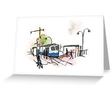 Tram stop in Göteborg - Sweden Greeting Card