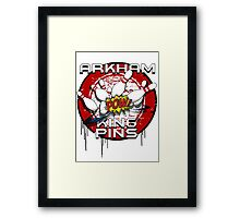 Arkham King Pins - Bowling Team T-shirt Framed Print