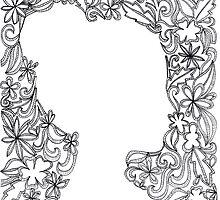 Flower Girl Silhouette Sketch by YakArt