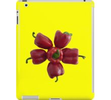 Six red bell peppers flower iPad Case/Skin