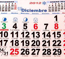 calendar with numbers by arnau2098
