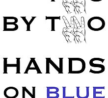 Hands on blue by Kubik