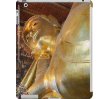 Face of Reclining Buddha gold statue in Wat Pho buddhist temple, Bangkok, Thailand iPad Case/Skin