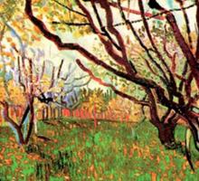 Orchard in Blossom, Vincent van Gogh.   Sticker