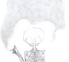 (throwback) smoking skeleton--graphite by emiflare
