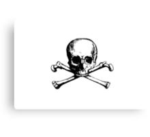 skull and bones Canvas Print