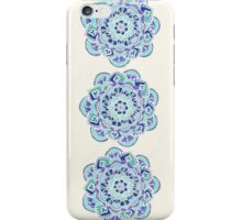 Royal Blue, Teal, Mint & Purple Mandala Flower iPhone Case/Skin