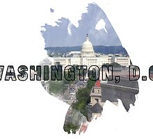 Washington, D.C. Grunge Logo by retrosauce