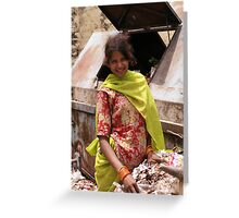 Pleased to have an income, Udaipur, India Greeting Card