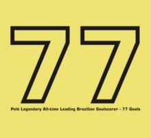 Pelé Legondary All-time Leading Brazilian Goalscorer - 77 Goals by springwoodbooks