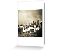 Storm clouds - View from Mary Street, Highgate. Greeting Card
