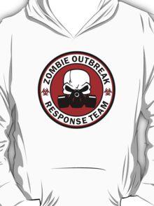 Zombie Outbreak Response Team Skull Gas Mask T-Shirt