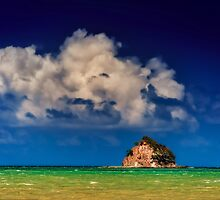 Island in paradise  by mellosphoto