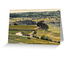 vintage vineyard landscape Greeting Card