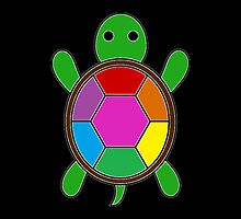 Single Rainbow Turtle by loralcandy