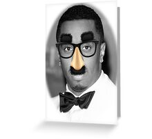 P Diddy Glasses Greeting Card