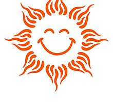 Smiling Sun Tattoo Tribal Face by Style-O-Mat