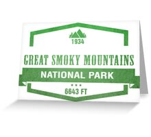Great Smoky Mountains National Park, Tennessee Greeting Card
