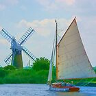 Sailing the Norfolk Broads 2 by Chris Thaxter
