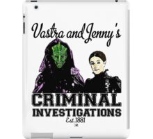 Vastra and Jenny's Criminal Investigations iPad Case/Skin
