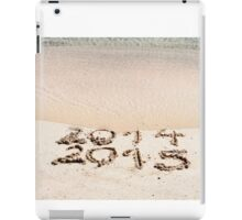 Happy New Year 2015 replace 2014 concept on the sea beach iPad Case/Skin