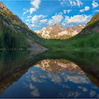Colorado Images - Maroon Bells on a Still June Morning 1 by RobGreebonPhoto