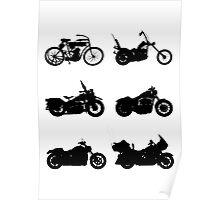 History of Harley Davidson Poster