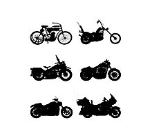 History of Harley Davidson Photographic Print