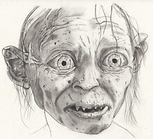 Gollum - Pencil Drwing by ArronBoard