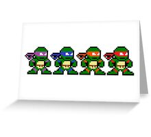 8-bit TMNT Greeting Card
