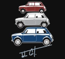 Classic Mini Cooper red white and blue by car2oonz