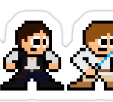 8-bit Chewie, Han, Luke & Leia Sticker